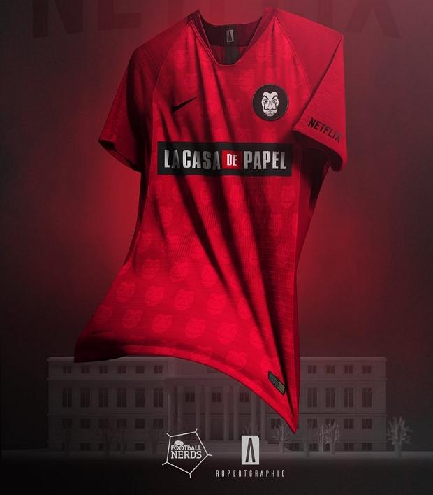 Designer cria camisas de futebol para La Casa de Papel - Show de Camisas 7fb59140f95cb