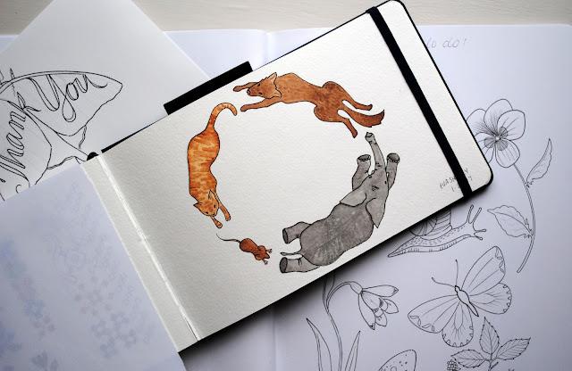 Sketchbooks, sketches, Eva Shorey, Sketchbook Conversations, My Giant Strawberry