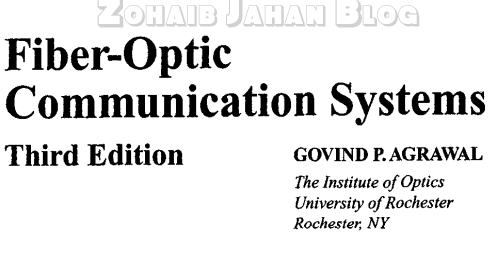 Fiber Optic Communication Systems by Govind Agrawal PDF