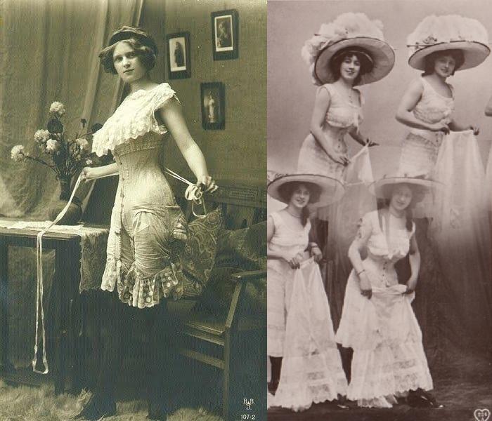 historia damskiej bielizny