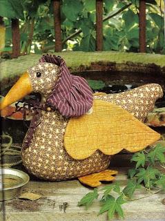 pato - Enfeite passarinho em feltro