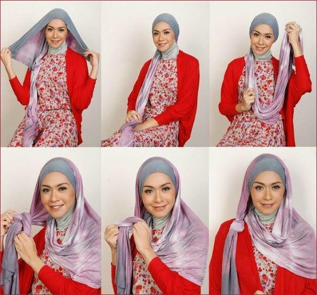 cara memakai jilbab pesta 4