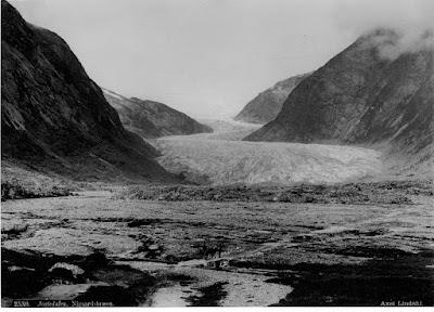 glaciar Nigards en 1890