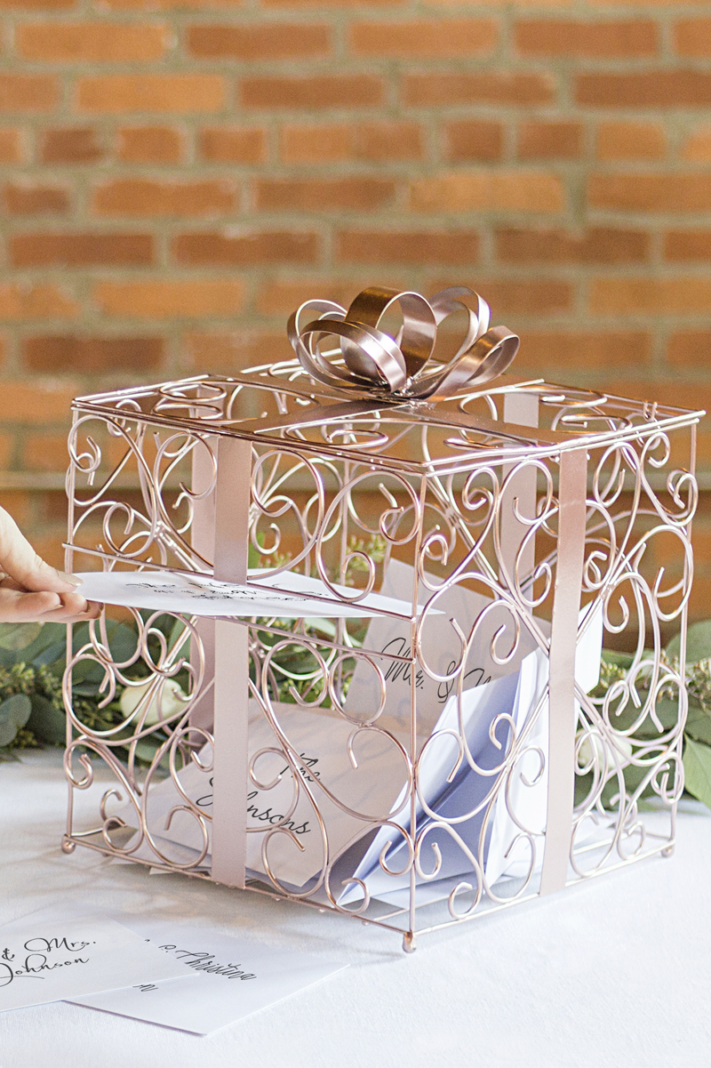 Scrolled Metal Card Box