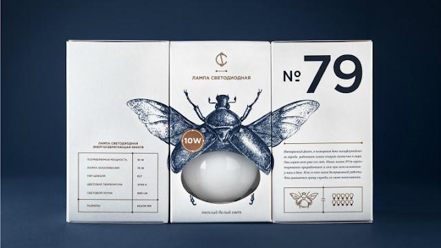 Genial e innovador packaging de bombillas inspirado en insectos