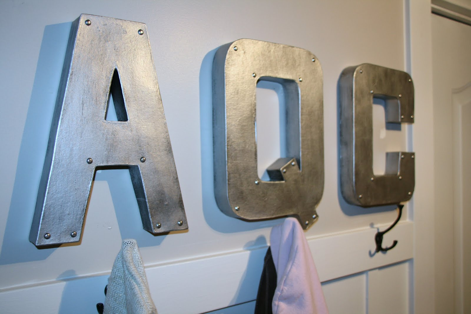 up spending about $30 for five, 12 inch letters. The zinc letters ...