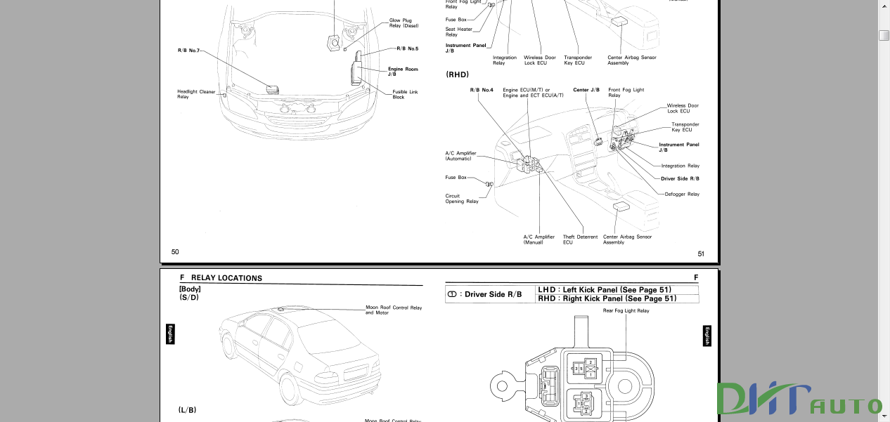 AVENSIS CORONA 1997 ELECTRICAL WIRING DIAGRAM  Automotive