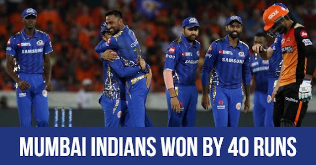 VIVO IPL 2019 Match 19 SRH vs MI Live Score and Full Scorecard