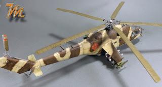 Mi-24A, scale model