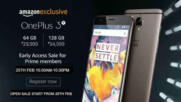 OnePlus 3T 128GB Varaint Exclusive Sale On Amazon Today