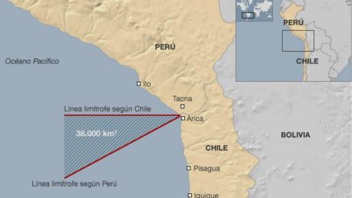 mapa limites maritimos peru chile