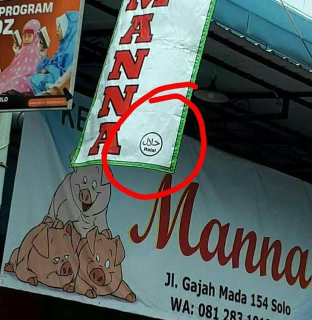 Innalillahi.. Kedai Babi di Solo Malah Pasang Label Halal!