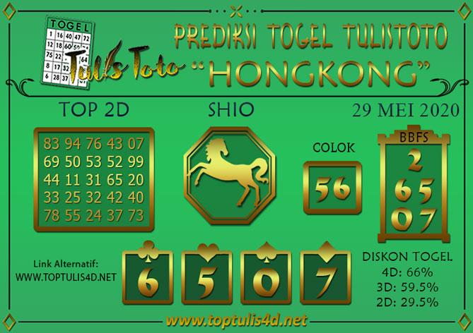 Prediksi Togel HONGKONG TULISTOTO 29 MEI 2020