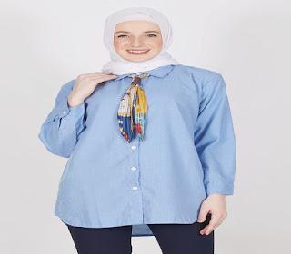 model atasan wanita gemuk