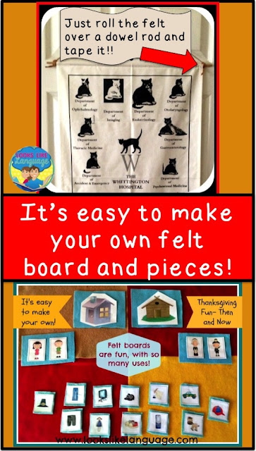 Making your own felt board is easy! Tips from Looks-Like-Language