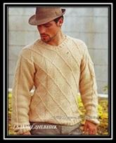 Vyazanie dlya mujchin pulover svyazannii spicami so shemoi i opisaniem raboti (2)