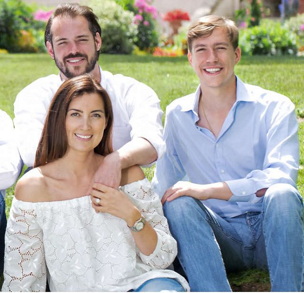 Princess Stéphanie,Prince Guillaume, Princess Alexandra, Grand Duchess Maria Teresa, Grand Duke Henri, Princess Claire, Prince Félix