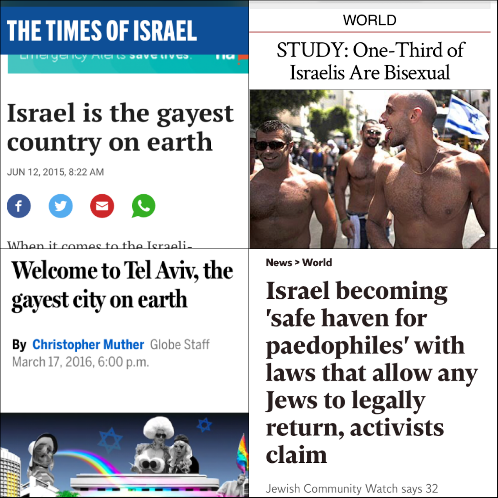 Israel is the gayest country on earth
