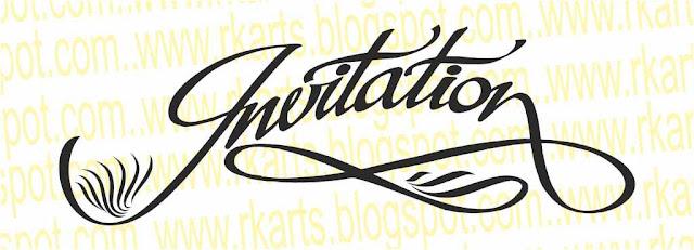 Invitation Calligraphy Title