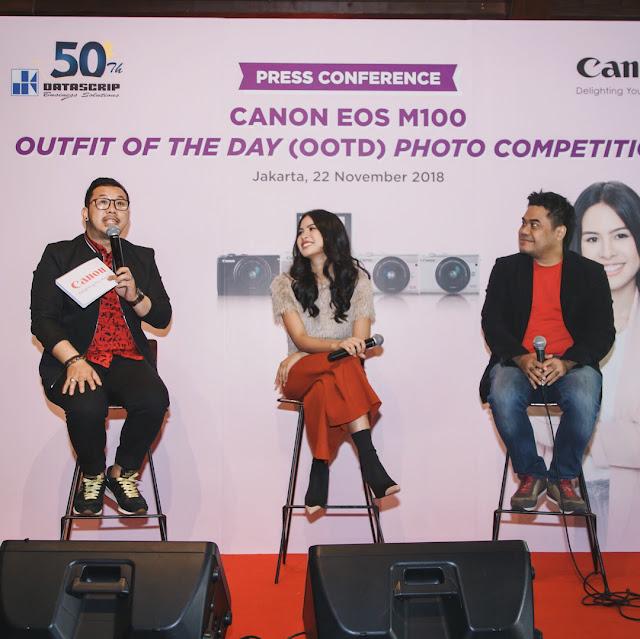 Maudy Ayunda, Canon EOS M100, Gratis EOS M100, Kamera Mirrorless, Kamera Mirorrless Murah