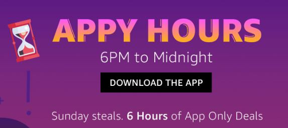 (Upto 90% Off) Amazon Appy Hours-6-12 AM - Blockbuster Deals Every Sunday  - dargowhar