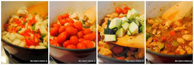 One Pot Garden Pasta with Chicken at Miz Helen's Country Cottage