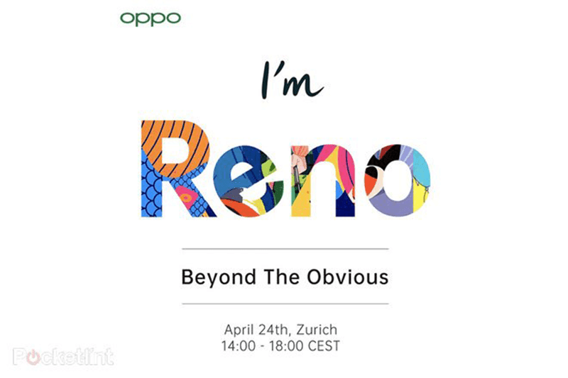 OPPO to make Reno with 10x zoom official on April 24