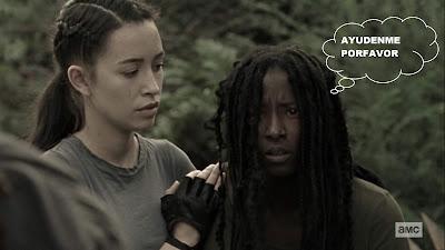 The Walking Dead 9x14 amiga de Michonne y Rosita