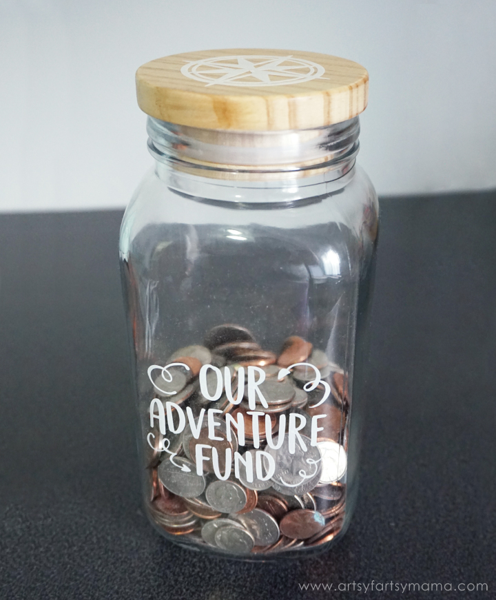 DIY Adventure Fund Jar - Custom Newlywed Gift Tote