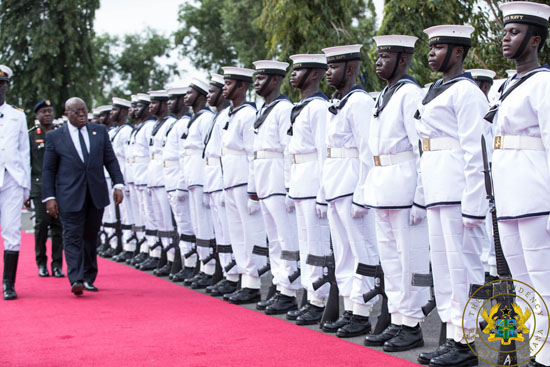 President Akufo-Addo presents 140 vehicles to Armed Forces
