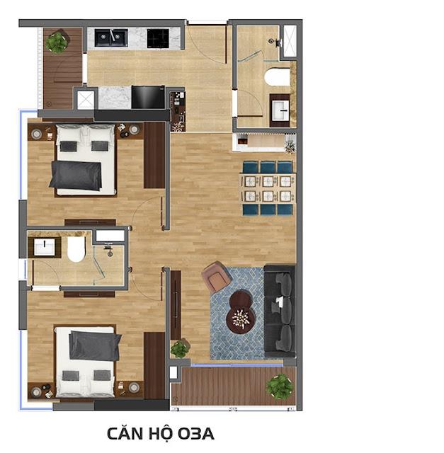 Căn 03A chung cư số 1 Nghĩa Tân