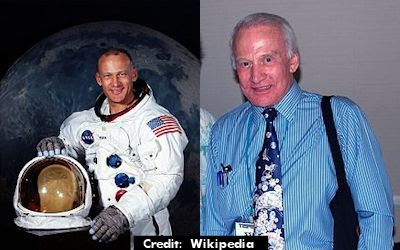 Buzz Aldrin (Then & Now)
