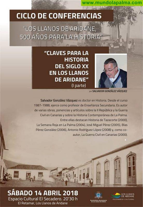 """Conferencia """"Claves para la Historia del s. XX en Los Llanos de Aridane"""""""