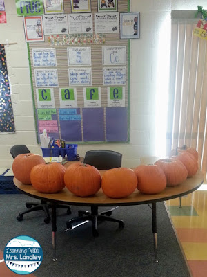 Want to include more STEM activities in your unit plans this fall? This post reviews how I incorporate STEM into our literature, science, and math activities and highlights our life cycle of pumpkin unit that we do each fall. Student friendly journals, easy to follow lesson plans, and fun activities are all included in this unit.#pumpkins #lifecycles #kindergarten#science #stem #teacherspayteachers
