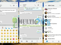 BBM Mod iOS Light v9 Terbaru Base Versi 2.13.1.14 Apk New Emoticon
