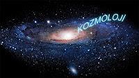 Bir galaksiye doğru çekilen kozmoloji sözcüğü