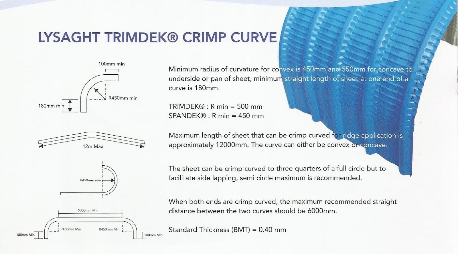 rangka baja ringan untuk atap asbes cv. berkat lancar jaya: trimdek lysaght crimp curve