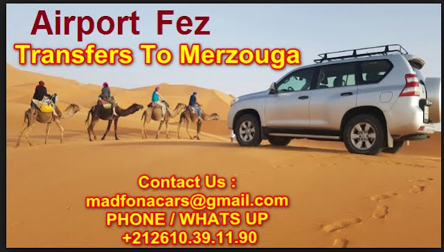 Transfers from Fez airport to Merzouga