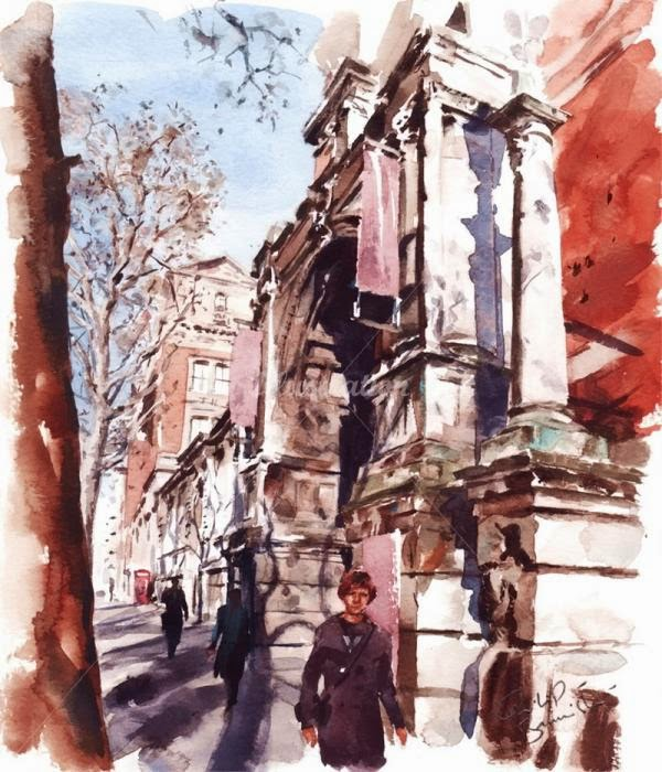 Lovely Cityscape Watercolor Paintings by UK Based Painter Philip Bannister