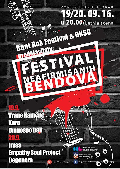 Festival neafirmisanih bendova u DKSG