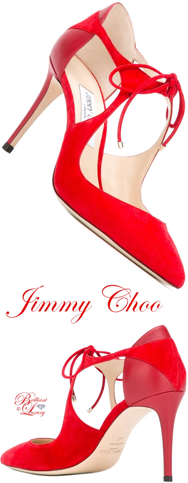 Brilliant Luxury ♦ Jimmy Choo Tie-Front Pumps