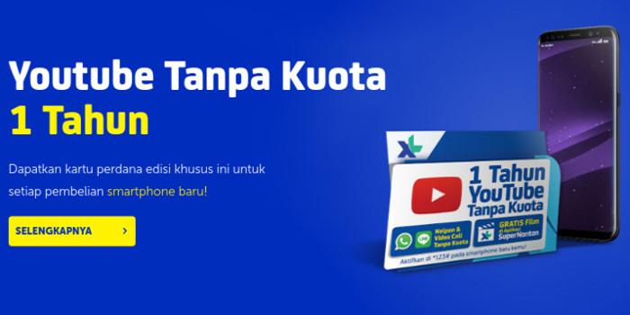 Kartu Perdana XL Gratis YouTube 1 Tahun Tanpa Kuota