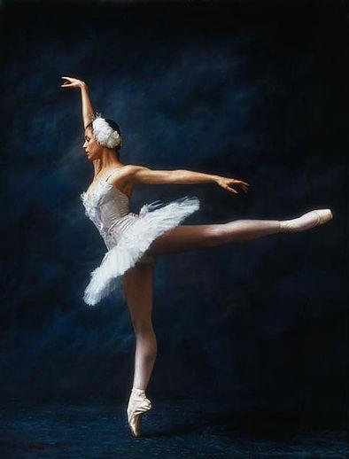Douglas Hofmann pinturas foto-realistas mulheres dançarinas bailarinas