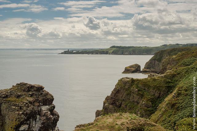 Vistas de Fort la Latte desde viaje Cap Frehel viaje Bretaña