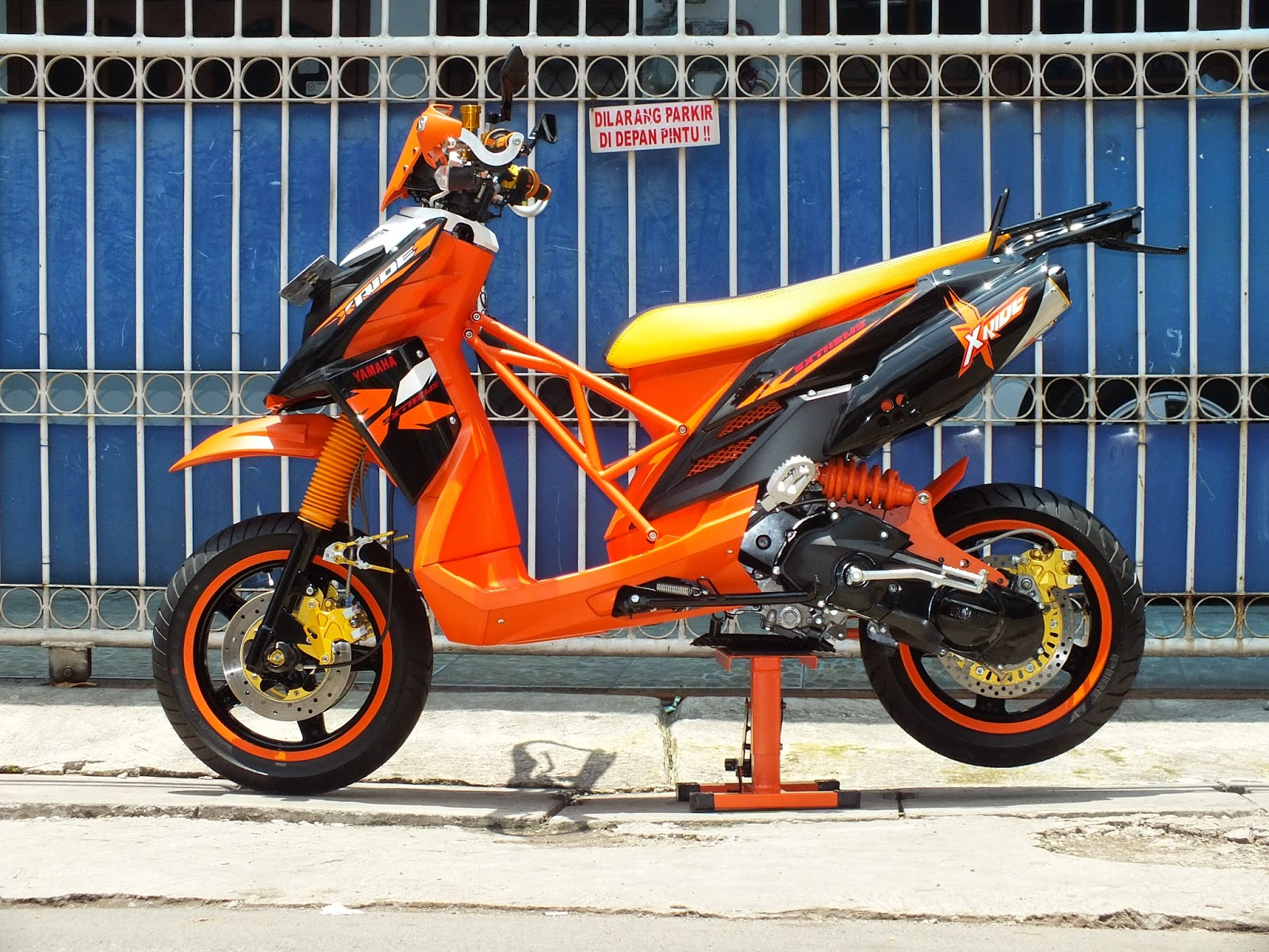 Download 93 Modifikasi Motor Matic Supermoto Terupdate Dinding Motor