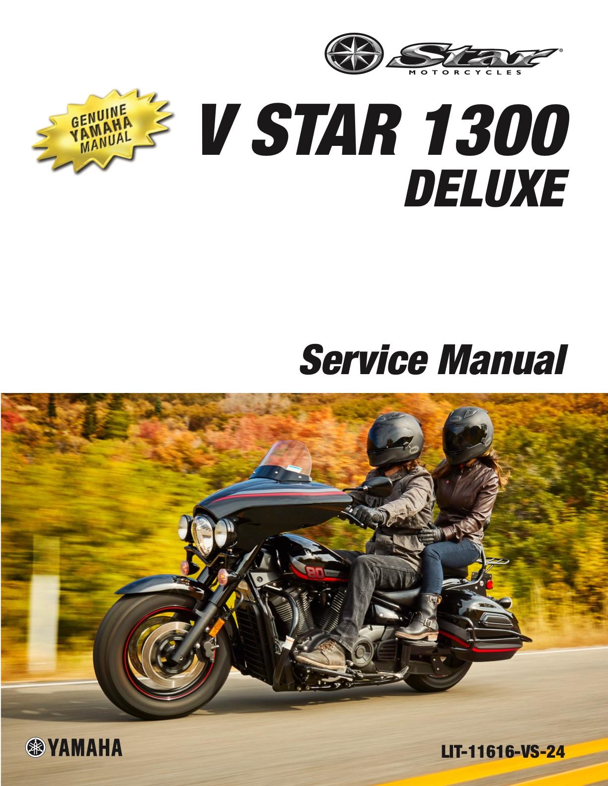 Yamaha V Star 1300 Deluxe 2013 2017 Workshop Repair Service Manual