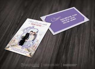 Thiết kế mẫu in card visit ảnh viện áo cưới