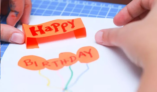 Adım Adım Doğum Günü Tebrik Kartı Yapımı