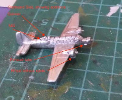 Ju 52 Tante 1/600 Tumbling Dice upgrade