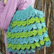 Cartera con volados a Crochet
